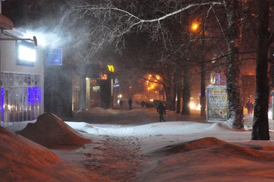 снегопад в Николаеве